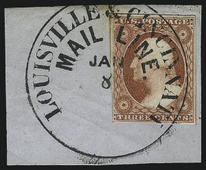 Sale Number 1050, Lot Number 106, 3c-12c 1851-56 Issue (Scott 10-17)3c Dull Red, Ty. II (11A), 3c Dull Red, Ty. II (11A)