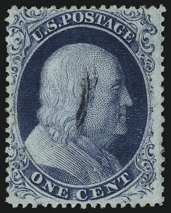 Sale Number 1050, Lot Number 127, 1c-3c 1857-60 Issue (Scott 18-26A)1c Blue, Ty. III (21), 1c Blue, Ty. III (21)