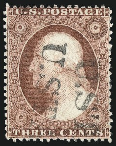 Sale Number 1050, Lot Number 137, 1c-3c 1857-60 Issue (Scott 18-26A)3c Rose, Ty. II (25A), 3c Rose, Ty. II (25A)