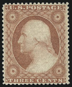 Sale Number 1050, Lot Number 138, 1c-3c 1857-60 Issue (Scott 18-26A)3c Dull Red, Ty. III (26). Mint N.H, 3c Dull Red, Ty. III (26). Mint N.H