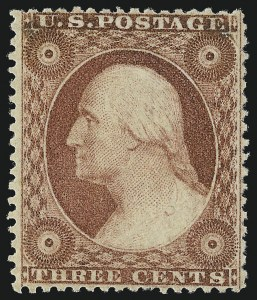 Sale Number 1050, Lot Number 139, 1c-3c 1857-60 Issue (Scott 18-26A)3c Dull Red, Ty. III (26). Mint N.H, 3c Dull Red, Ty. III (26). Mint N.H
