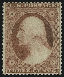 Sale Number 1050, Lot Number 140, 1c-3c 1857-60 Issue (Scott 18-26A)3c Dull Red, Ty. III (26). Mint N.H, 3c Dull Red, Ty. III (26). Mint N.H