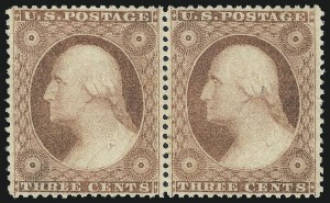 Sale Number 1050, Lot Number 143, 1c-3c 1857-60 Issue (Scott 18-26A)3c Dull Red, Ty. III (26), 3c Dull Red, Ty. III (26)