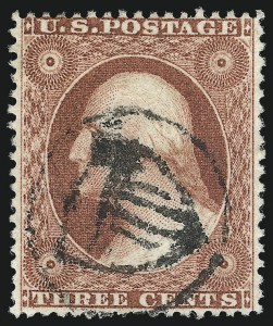 Sale Number 1050, Lot Number 145, 1c-3c 1857-60 Issue (Scott 18-26A)3c Dull Red, Ty. III (26), 3c Dull Red, Ty. III (26)