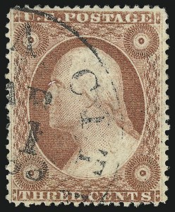 Sale Number 1050, Lot Number 148, 1c-3c 1857-60 Issue (Scott 18-26A)3c Dull Red, Ty. IV (26A vars), 3c Dull Red, Ty. IV (26A vars)