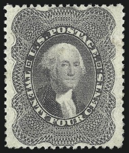 Sale Number 1050, Lot Number 168, 5c-90c 1857-60 Issue and 1875 Reprint (Scott 27-46)24c Gray Lilac (37), 24c Gray Lilac (37)