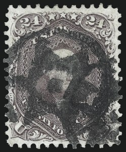 Sale Number 1050, Lot Number 195, 1861-66 Issue (Scott 56-77)24c Red Lilac (70), 24c Red Lilac (70)