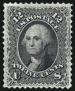 Sale Number 1050, Lot Number 222, 1867-68 Grilled Issue and 1875 Re-Issue (Scott 83-105)12c Black, F. Grill (97), 12c Black, F. Grill (97)