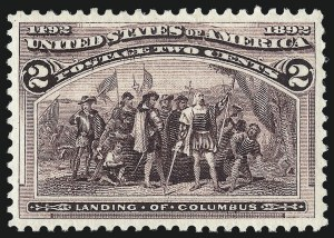 Sale Number 1050, Lot Number 336, 1c-50c 1893 Columbian Issue (Scott 230-240)2c Columbian (231), 2c Columbian (231)