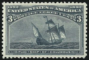 Sale Number 1050, Lot Number 337, 1c-50c 1893 Columbian Issue (Scott 230-240)3c Columbian (232), 3c Columbian (232)