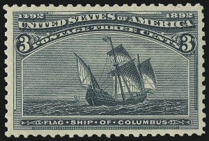 Sale Number 1050, Lot Number 339, 1c-50c 1893 Columbian Issue (Scott 230-240)3c Columbian (232), 3c Columbian (232)