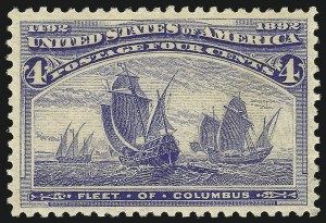 Sale Number 1050, Lot Number 342, 1c-50c 1893 Columbian Issue (Scott 230-240)4c Columbian (233), 4c Columbian (233)