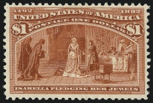 Sale Number 1050, Lot Number 367, $1.00-$5.00 1893 Columbian Issue (Scott 241-245)$1.00 Columbian (241), $1.00 Columbian (241)