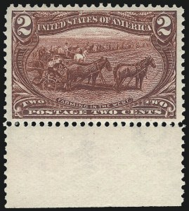 Sale Number 1050, Lot Number 423, 1898 Trans-Mississippi Issue (Scott 285-293)2c Trans-Mississippi (286), 2c Trans-Mississippi (286)