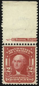 Sale Number 1050, Lot Number 476, 1901 Pan-American, 1902-08 thru Jamestown Issues (Scott 294-330)2c Carmine, Ty. I (319), 2c Carmine, Ty. I (319)