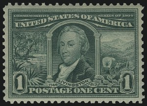 Sale Number 1050, Lot Number 478, 1901 Pan-American, 1902-08 thru Jamestown Issues (Scott 294-330)1c Louisiana Purchase (323), 1c Louisiana Purchase (323)
