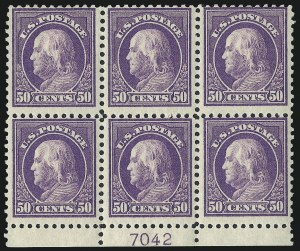 Sale Number 1050, Lot Number 622, 1916-22 Issues (Scott 486-547)50c Red Violet (517), 50c Red Violet (517)