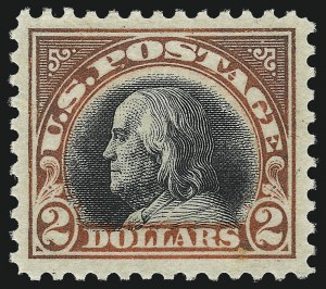 Sale Number 1050, Lot Number 626, 1916-22 Issues (Scott 486-547)$2.00 Orange Red & Black (523), $2.00 Orange Red & Black (523)
