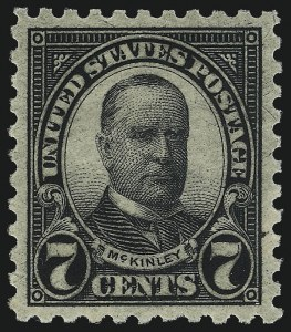 Sale Number 1050, Lot Number 659, 1922-26 and Later Issues (Scott 555-1687)7c Black, Perf 10 (588), 7c Black, Perf 10 (588)