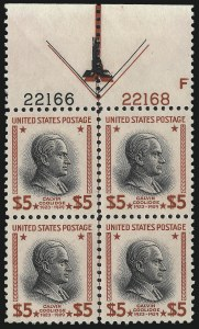 Sale Number 1050, Lot Number 680, 1922-26 and Later Issues (Scott 555-1687)$5.00 Presidential (834), $5.00 Presidential (834)