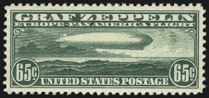 Sale Number 1050, Lot Number 721, Air Post, Graf Zeppelin and Later Issues (Scott C13-C31)65c Graf Zeppelin (C13), 65c Graf Zeppelin (C13)