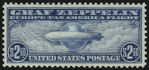 Sale Number 1050, Lot Number 724, Air Post, Graf Zeppelin and Later Issues (Scott C13-C31)$2.60 Graf Zeppelin (C15), $2.60 Graf Zeppelin (C15)