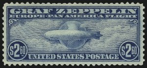 Sale Number 1050, Lot Number 725, Air Post, Graf Zeppelin and Later Issues (Scott C13-C31)$2.60 Graf Zeppelin (C15), $2.60 Graf Zeppelin (C15)