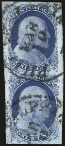 Sale Number 1050, Lot Number 79, 1c 1851-56 Issue (Scott 5A-9)1c Blue, Ty. II (7), 1c Blue, Ty. II (7)