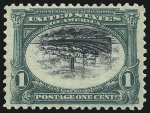 Sale Number 1052, Lot Number 3, 1901 Pan-American Issue Inverts1c Pan-American, Center Inverted (294a), 1c Pan-American, Center Inverted (294a)