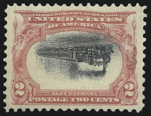 Sale Number 1052, Lot Number 4, 1901 Pan-American Issue Inverts2c Pan-American, Center Inverted (295a), 2c Pan-American, Center Inverted (295a)