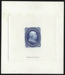 Sale Number 1053, Lot Number 110, 1861-66 Issues, National Bank Note Company1c Blue, Large Die Proof on India (63P1), 1c Blue, Large Die Proof on India (63P1)
