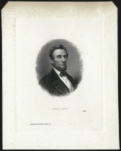 Sale Number 1054, Lot Number 303, Collateral MaterialAbraham Lincoln Portrait, Abraham Lincoln Portrait