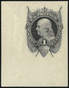 Sale Number 1054, Lot Number 307, Essays1c Black on White, 1869 National Bank Note Company Essay, Cut Square (Undersander E35Ae), 1c Black on White, 1869 National Bank Note Company Essay, Cut Square (Undersander E35Ae)