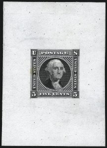 Sale Number 1054, Lot Number 314, Essays5c Washington, Small Lettering, Large Die Essay on India (115-E2a), 5c Washington, Small Lettering, Large Die Essay on India (115-E2a)