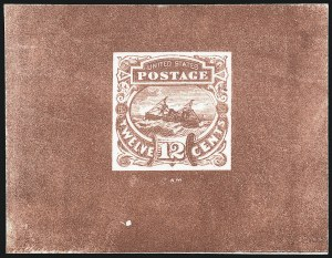 Sale Number 1054, Lot Number 326, Essays12c Brown Red, Typographed Small Numeral Die Essay on Card (117-E3a), 12c Brown Red, Typographed Small Numeral Die Essay on Card (117-E3a)