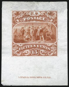 Sale Number 1054, Lot Number 328, Essays15c Scarlet, Small Numeral, Large Die Essay on India (118-E1c), 15c Scarlet, Small Numeral, Large Die Essay on India (118-E1c)