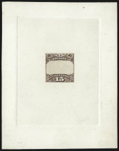 Sale Number 1054, Lot Number 329, Essays15c Red Brown, Die III, Hybrid Frame Only Essay on India (129-E7a), 15c Red Brown, Die III, Hybrid Frame Only Essay on India (129-E7a)