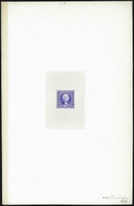 Sale Number 1054, Lot Number 355, Die Proofs6c Ultramarine, Large Die Proof on India (115P1), 6c Ultramarine, Large Die Proof on India (115P1)