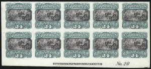 Sale Number 1054, Lot Number 395, Plate Proofs on India and Card incl. Invert Blocks24c Green & Violet, Plate Proof on India (120P3), 24c Green & Violet, Plate Proof on India (120P3)