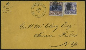 Sale Number 1054, Lot Number 632, Domestic Mail: 6c-24c15c Brown & Blue, Ty. II (119), 15c Brown & Blue, Ty. II (119)