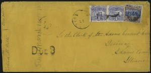 Sale Number 1054, Lot Number 633, Domestic Mail: 6c-24c15c Brown & Blue, Ty. II (119), 15c Brown & Blue, Ty. II (119)