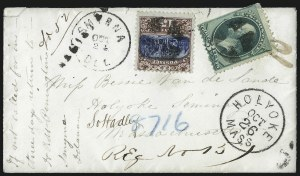Sale Number 1054, Lot Number 634, Domestic Mail: 6c-24c15c Brown & Blue, Ty. II (119), 15c Brown & Blue, Ty. II (119)