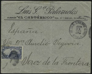Sale Number 1056, Lot Number 402, Domestic and Foreign Uses, 5c-10c on Cover5c Trans-Mississippi (288), 5c Trans-Mississippi (288)