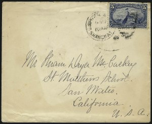Sale Number 1056, Lot Number 403, Domestic and Foreign Uses, 5c-10c on Cover5c Trans-Mississippi (288), 5c Trans-Mississippi (288)