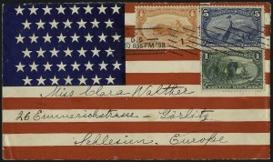 Sale Number 1056, Lot Number 404, Domestic and Foreign Uses, 5c-10c on Cover5c Trans-Mississippi (288), 5c Trans-Mississippi (288)
