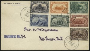 Sale Number 1056, Lot Number 434, Domestic and Foreign Uses, 50c on Cover1c-50c Trans-Mississippi (285-291), 1c-50c Trans-Mississippi (285-291)