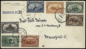 Sale Number 1056, Lot Number 435, Domestic and Foreign Uses, 50c on Cover1c-50c Trans-Mississippi (285-291), 1c-50c Trans-Mississippi (285-291)