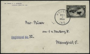 Sale Number 1056, Lot Number 437, Domestic and Foreign Uses, $1.00-$2.00 on Cover$1.00 Trans-Mississippi (292), $1.00 Trans-Mississippi (292)