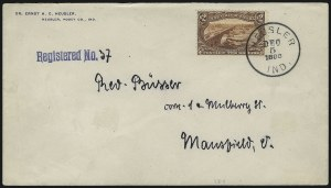 Sale Number 1056, Lot Number 438, Domestic and Foreign Uses, $1.00-$2.00 on Cover$2.00 Trans-Mississippi (293), $2.00 Trans-Mississippi (293)