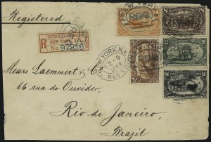 Sale Number 1056, Lot Number 440, Domestic and Foreign Uses, $1.00-$2.00 on Cover$2.00 Trans-Mississippi (293), $2.00 Trans-Mississippi (293)